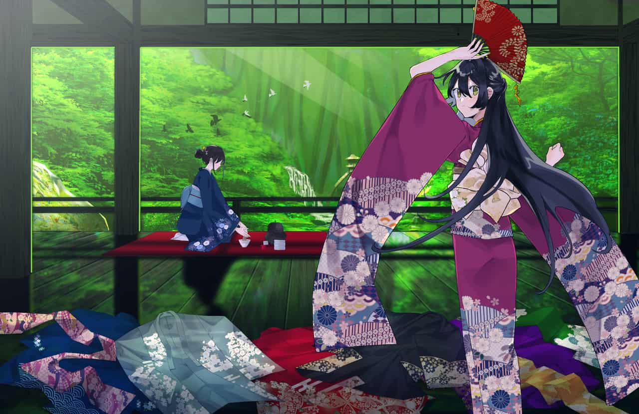 日本の美しさ Illust of 721 Kyoto_Award2020_illustration kimono forest girl Japanese_style