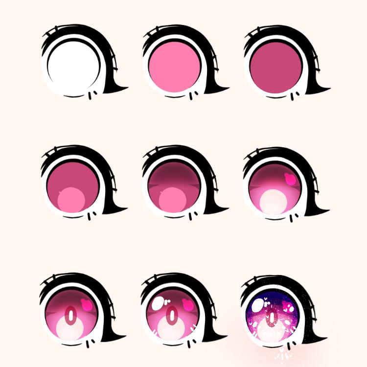 how i draw my eyes♡[old]♡ Illust of Siskya.Itoashi medibangpaint