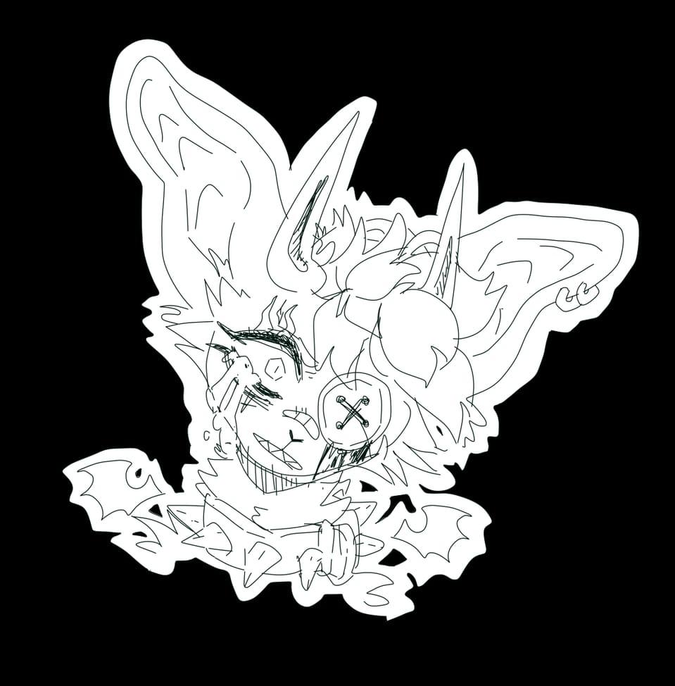 Hehe it's edgy time Illust of Sleepyxx (INACTIVE) animal_ears horn tears furry