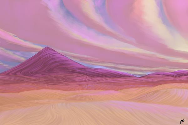 Illust of Meaadhusl medibangpaint painting landscapes scenery art desert