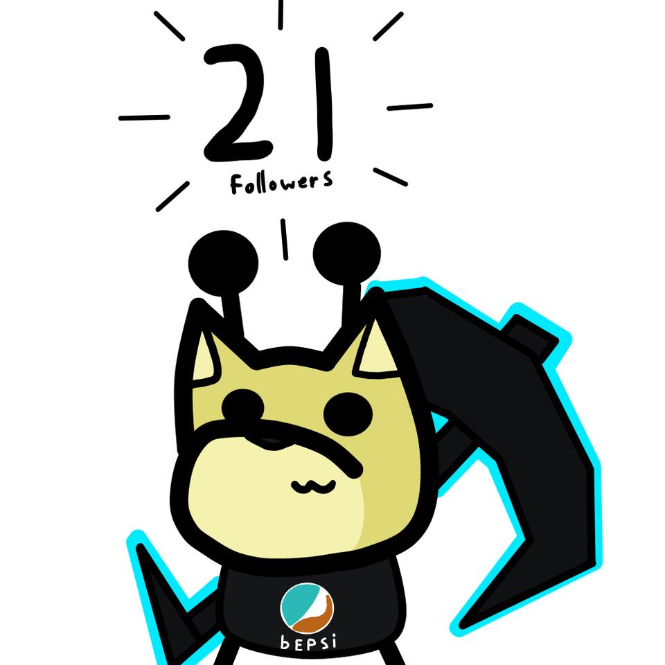 21 followers (9 + 10 = 21) Illust of Gaming Doge 21followers medibangpaint 21