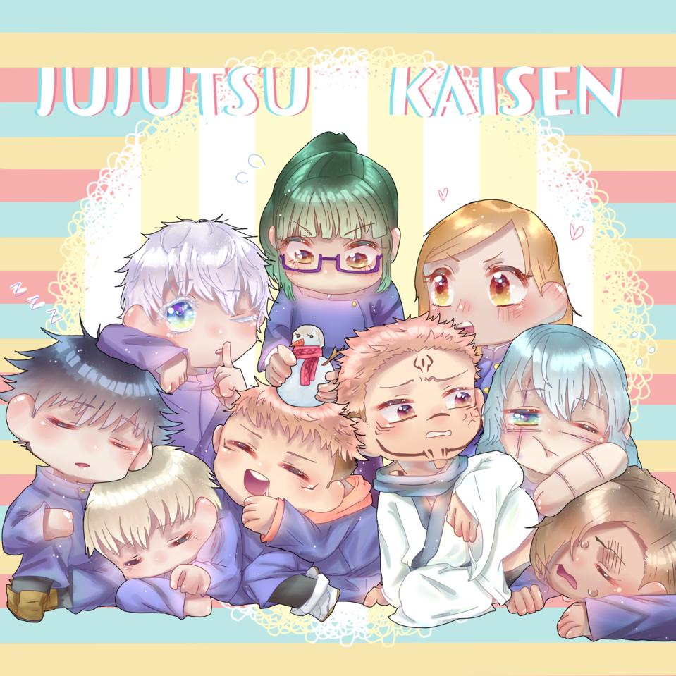 Jujutsu Kaisen Chibi Illust of Qiya Art anime JujutsuKaisenfanart medibangpaint JujutsuKaisen cute Crystal chibi pastel
