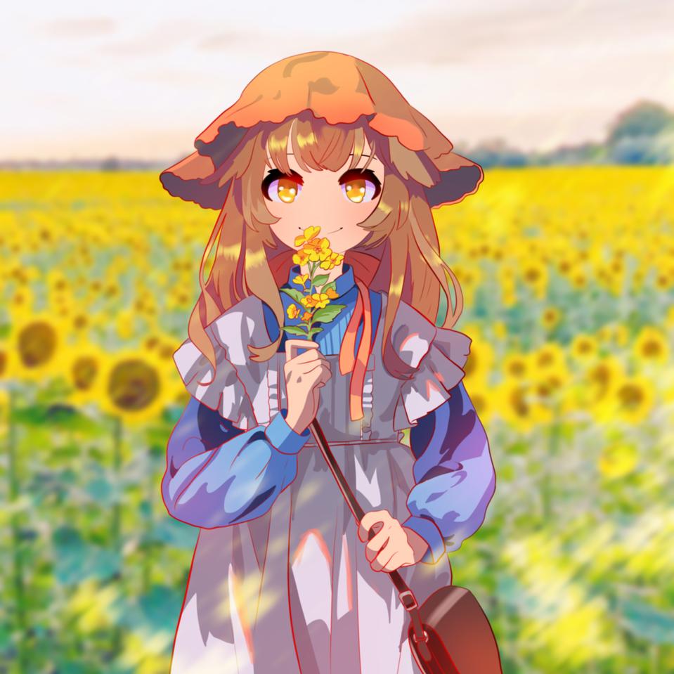 yellow girl Illust of snow_yuki medibangpaint 1hDrawingChallenge