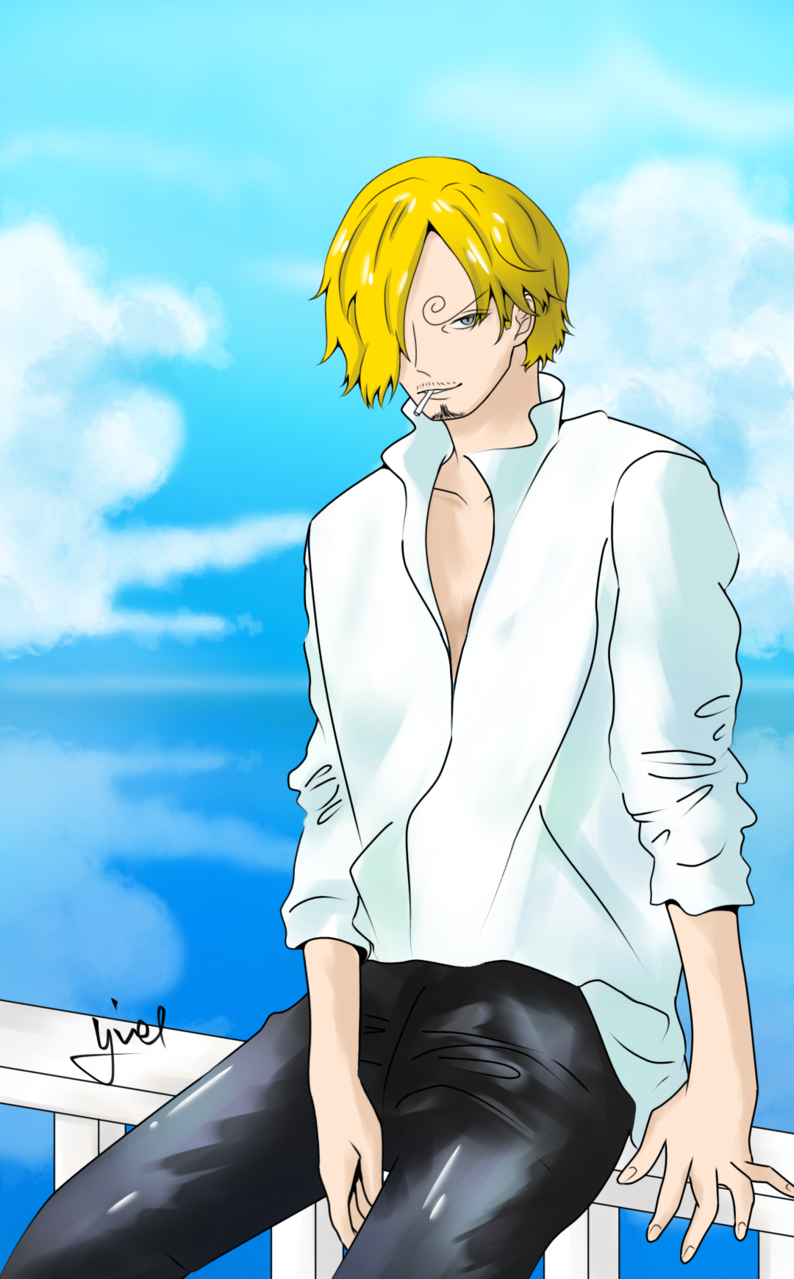 Sanji 💛 Illust of Yiel anime fanart Sanji digital art vinsmokesanji ONEPIECE