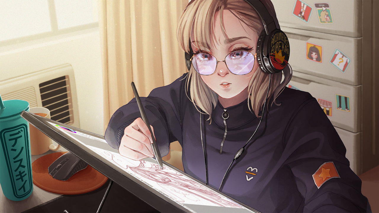 Busy Artist Illust of densukii oc original densukii artist digital huion