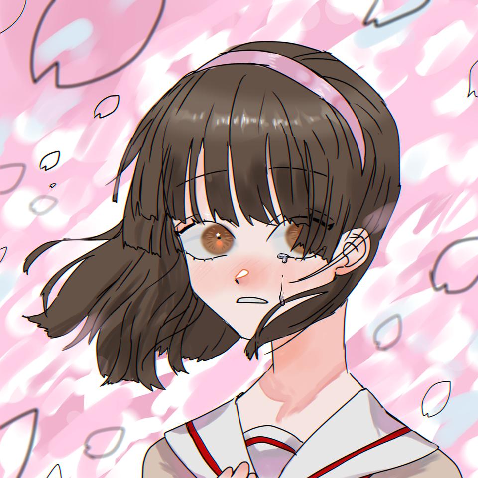さよなら、桜がちる頃に Illust of OHTEAOH 小5#腐女子同盟 卒業 girl pink sakura