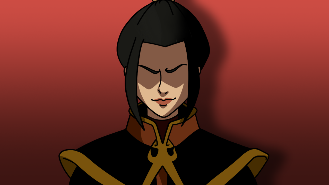 Azula Illust of Mikey-kun 2.0 princess fanart Firebender antagonist red illustration A:TLA Azula Fingerpaint