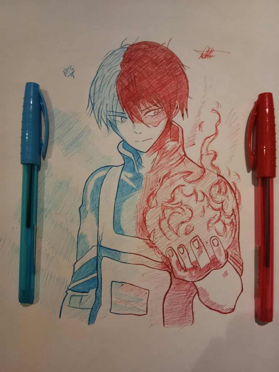 Shoto Todoroki of Boku no hero Academia Illust of Kai_cheewah.1 anime academia drawing MyHeroAcademia traditional manga art hero 神 my