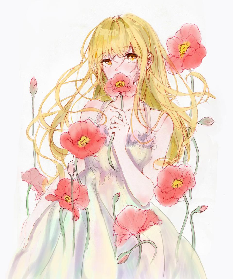 虞兮 Illust of 槐朔 medibangpaint flower girl