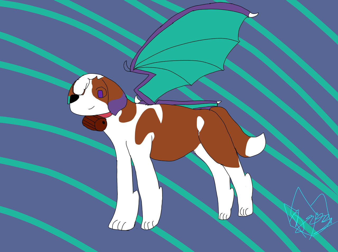 big doggo:> for Random  Illust of Hoshi travels the cosmos medibangpaint