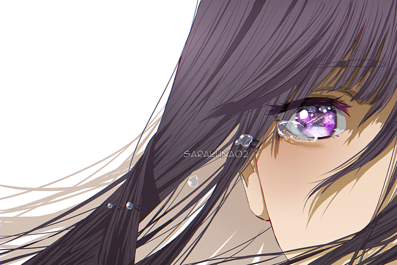 night sky Illust of SaraLuna02 original shootingstar girl tears star oc anime Crying eyes purple