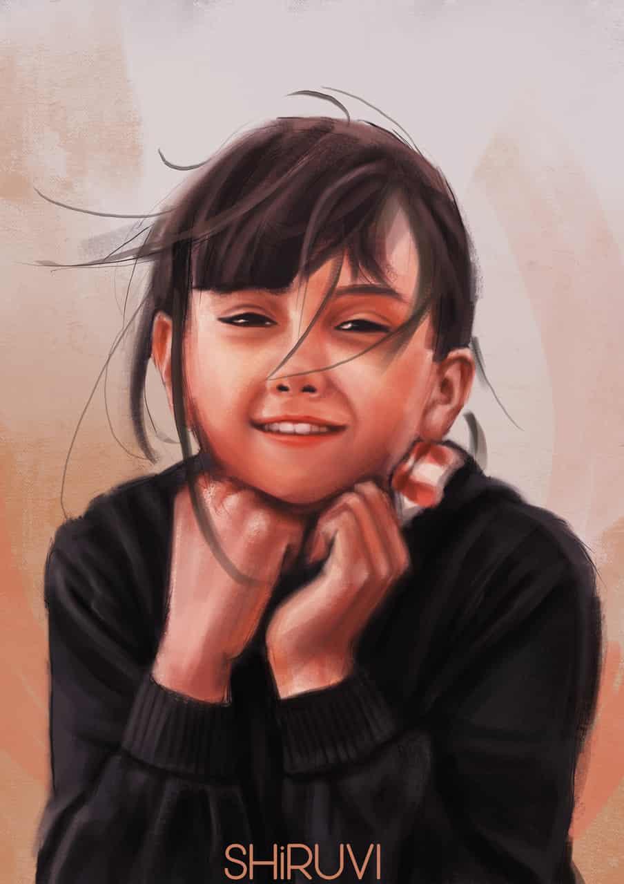Young Girl Study