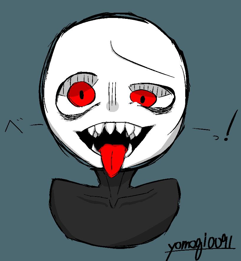 ワンドロ(手抜きとか言わない) Illust of よもぎ丸 ギザ歯 棒人間 レッツワンドロ 赤目