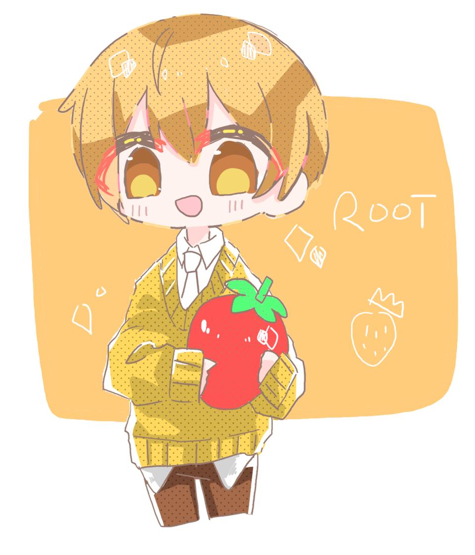 るぅとくん!!! Illust of めだまやき#テスト優先期間中 digital angel リク絵スト StrawberryPrince kawaii chibi 神だから皆見てbyれる るぅとくん strawberry