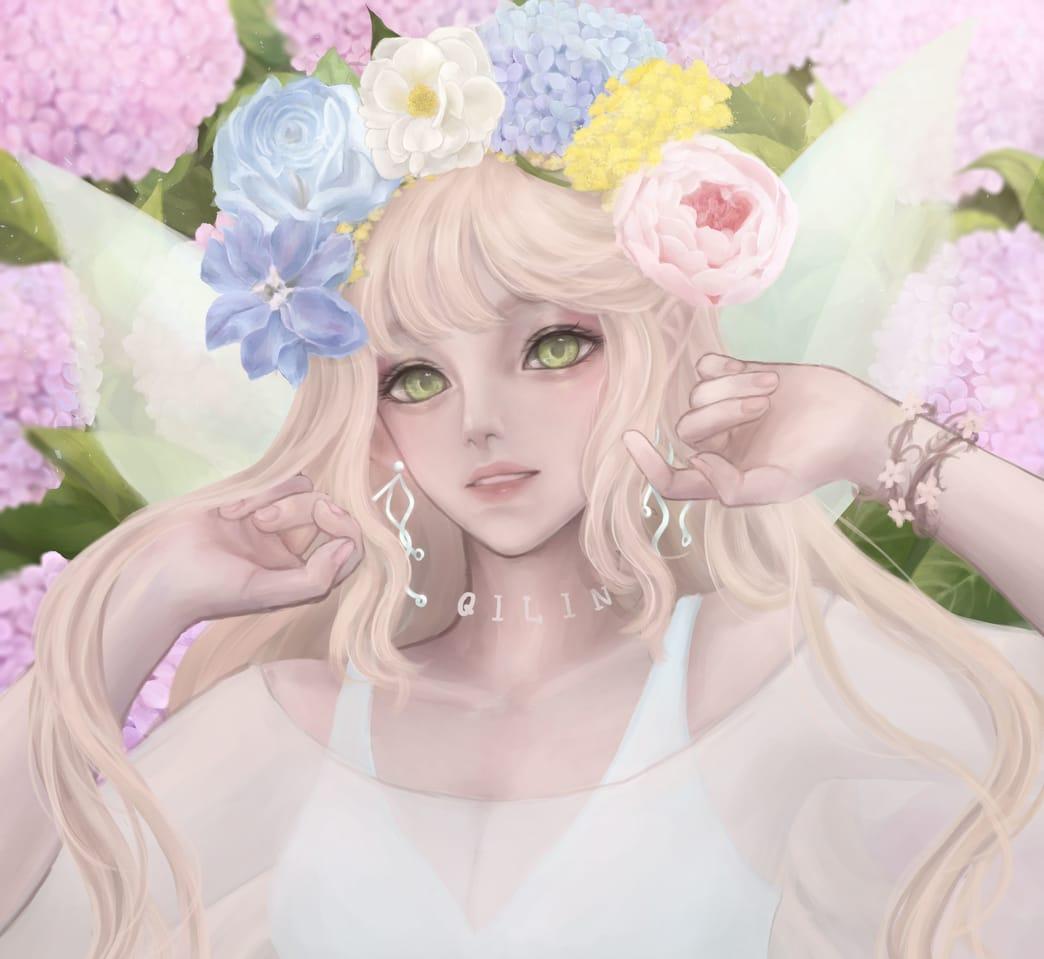 flowers Illust of 祁凜Qilin fairy CLIPSTUDIOPAINT oc original flower