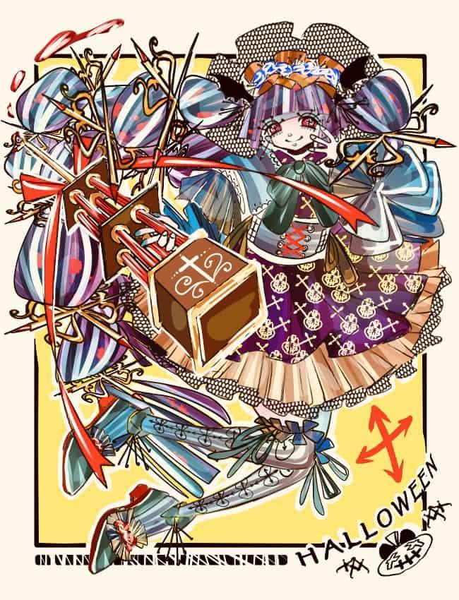 過去絵 Illust of 雪野 Halloween girl original