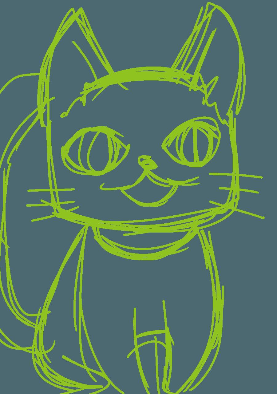 ねこ Illust of ちょこん cat
