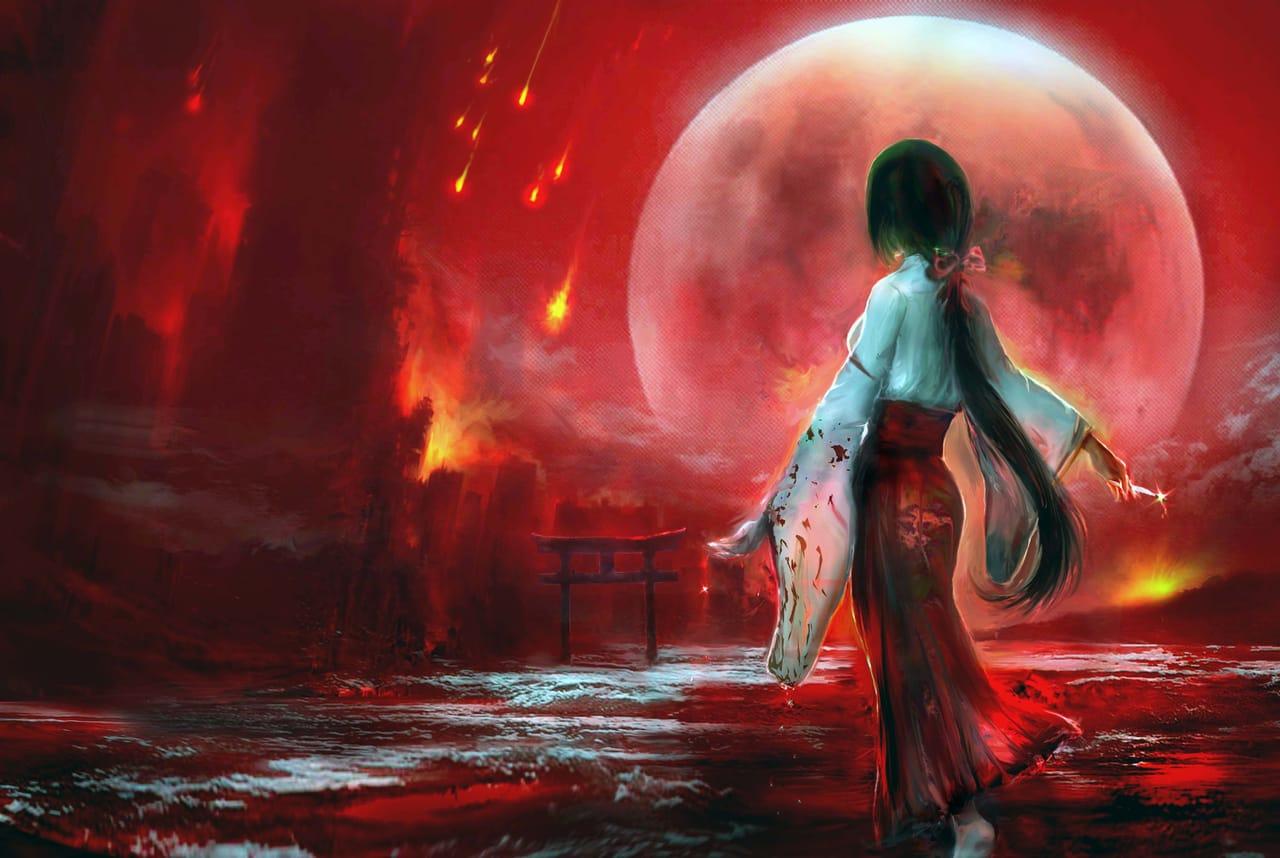 血月天劫 Illust of 晴夜星子 moon