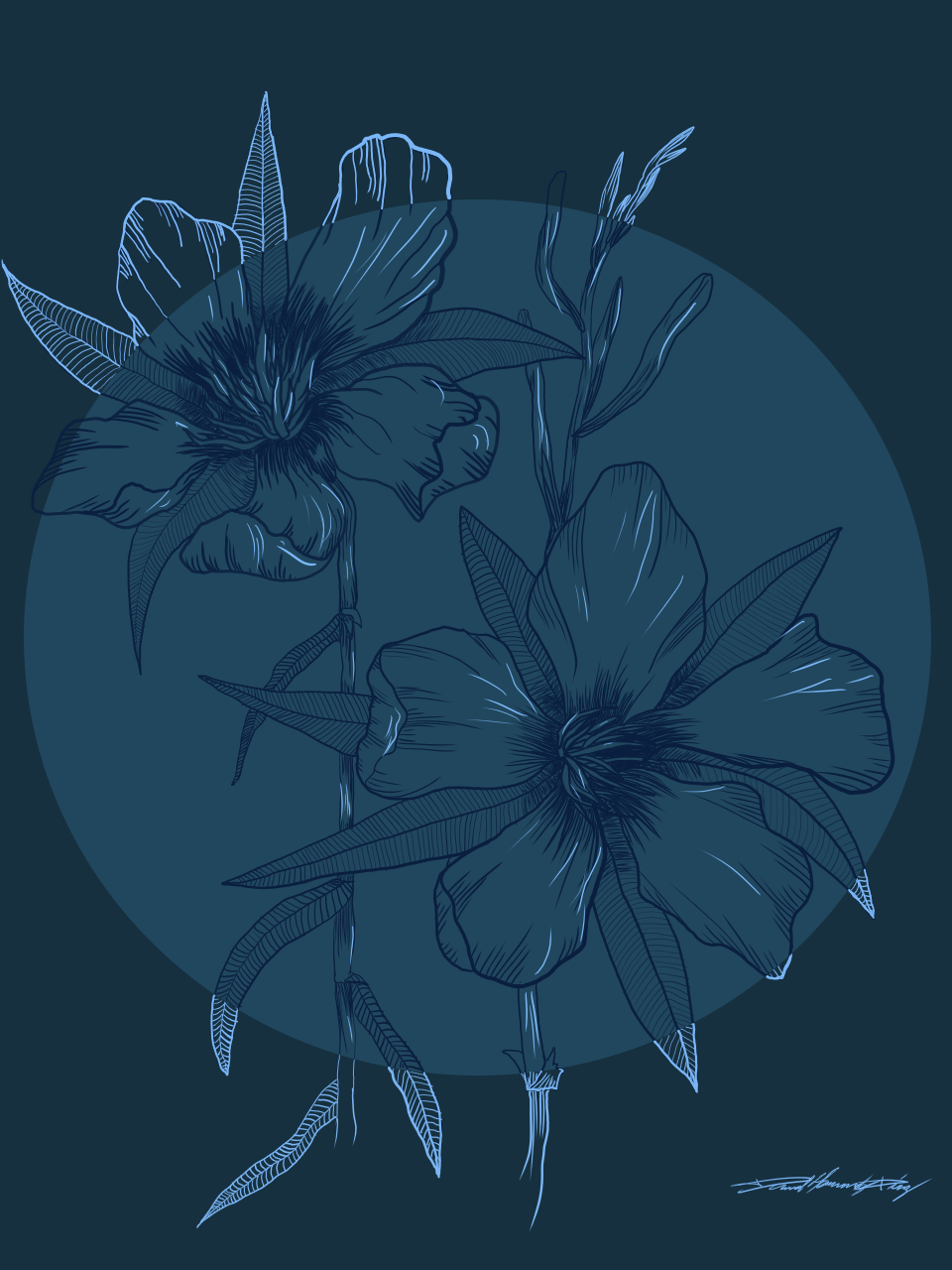 flores Illust of Daniel flowerillustration medibangpaint flores
