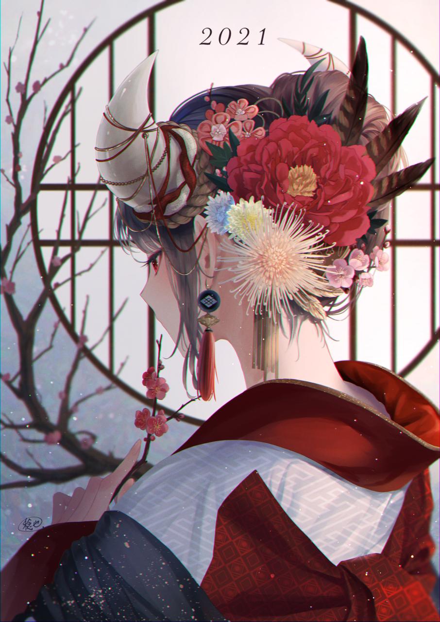 迎春 Illust of 稔也 girl original