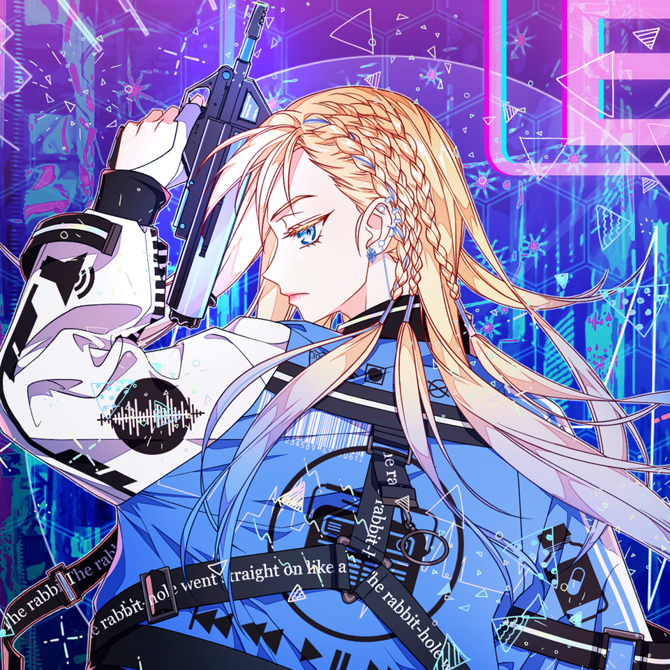 Blue techwear girl Illust of 십삼 blonde girl techwear oc original cyberpunk