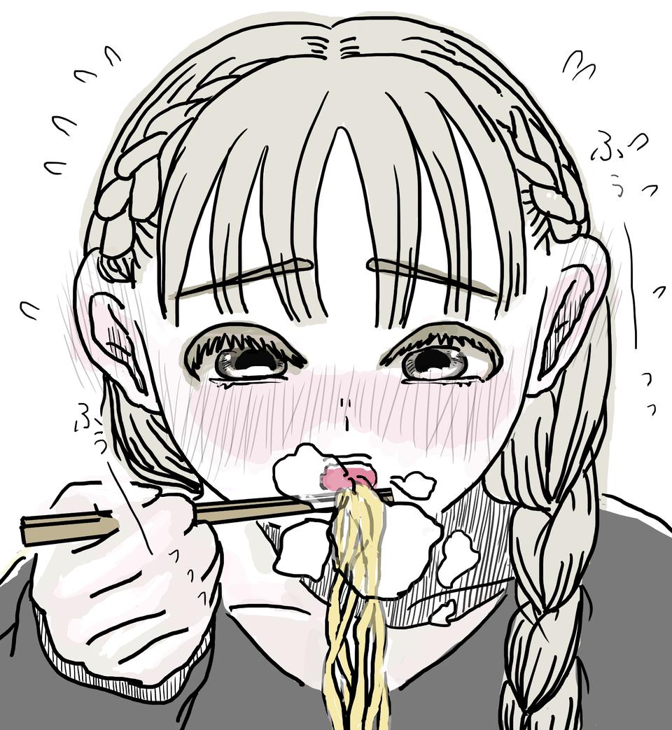 お、遅くてごめんね Illust of みいら shoujo_illustration