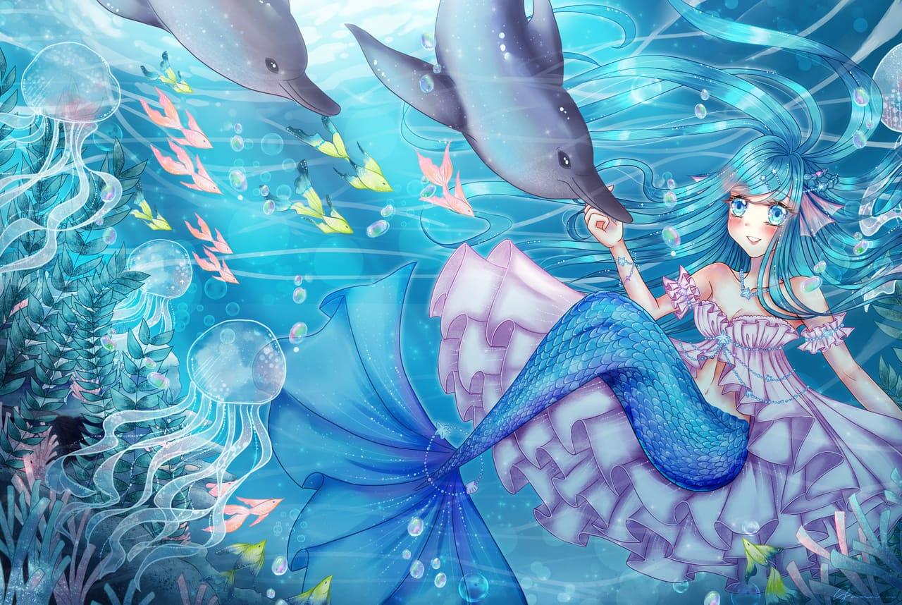 Celia~~ Illust of Sumomo ART_street_Illustration_Book_Contest chibi illustration originalart mermaid cute art cutegirl animegirl oc