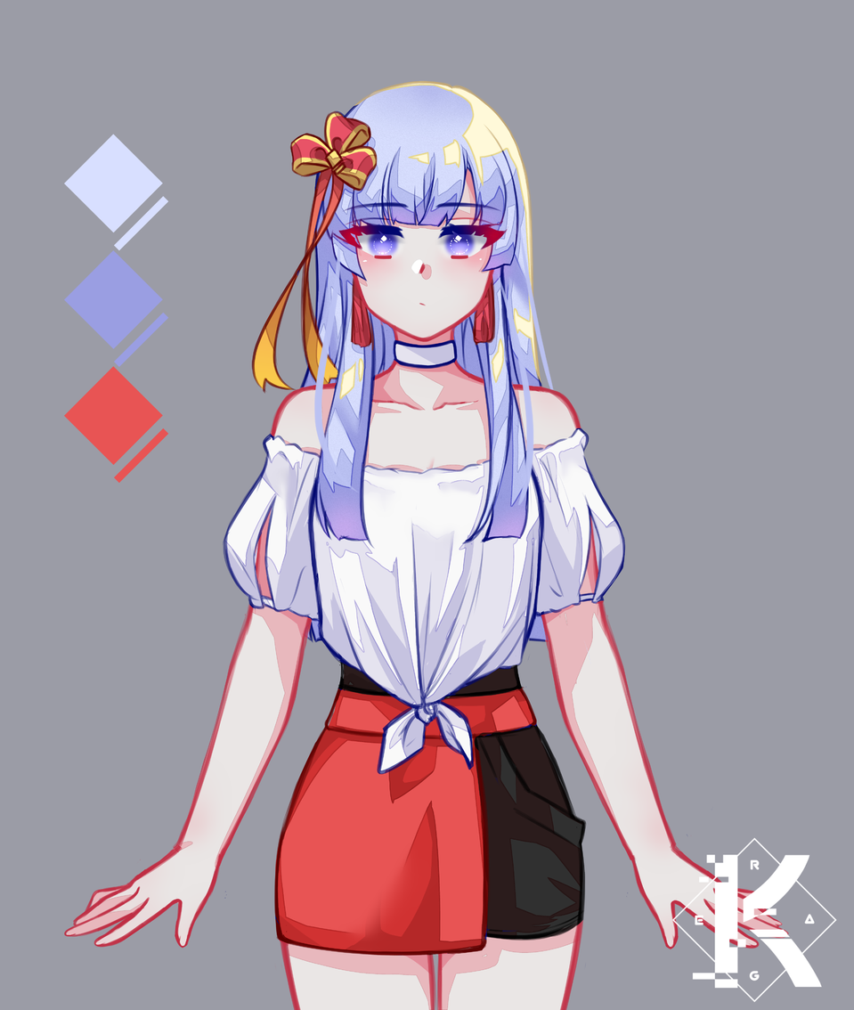 My OC, Nanami shaded version Illust of Kagera ARTstreet_Ranking original girl purple oc cute anime originalart kawaii love