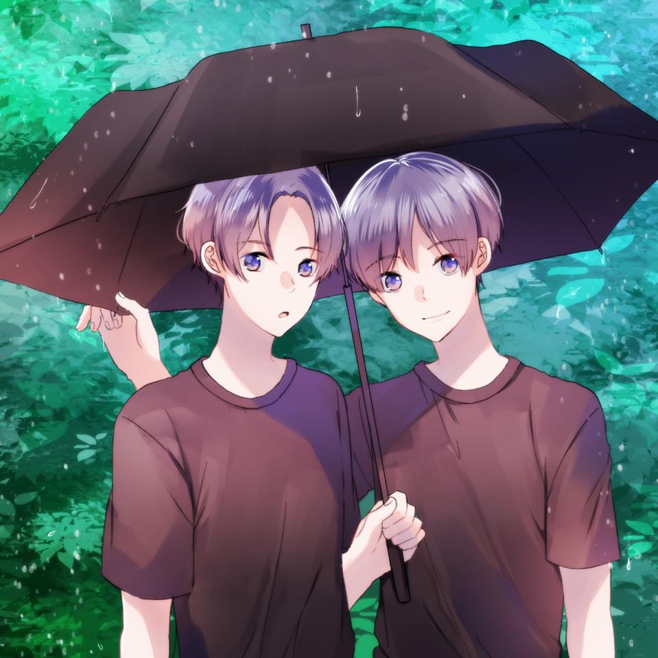 ☆ Illust of ぽち rain original umbrella boy