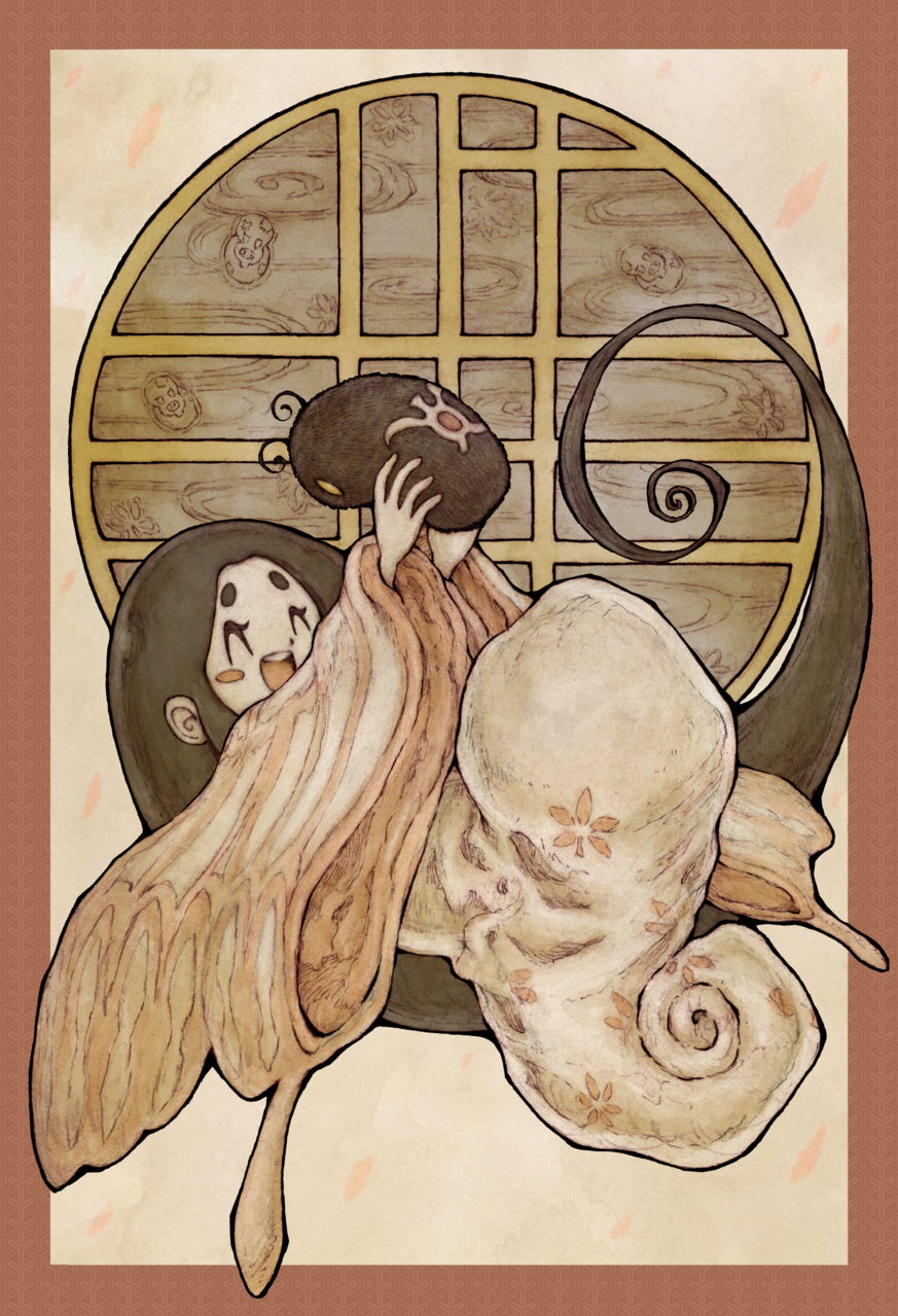 【BB49-42】虫めづる姫君 Illust of ウスイソト 虫めづる姫君 BB49 作者未詳