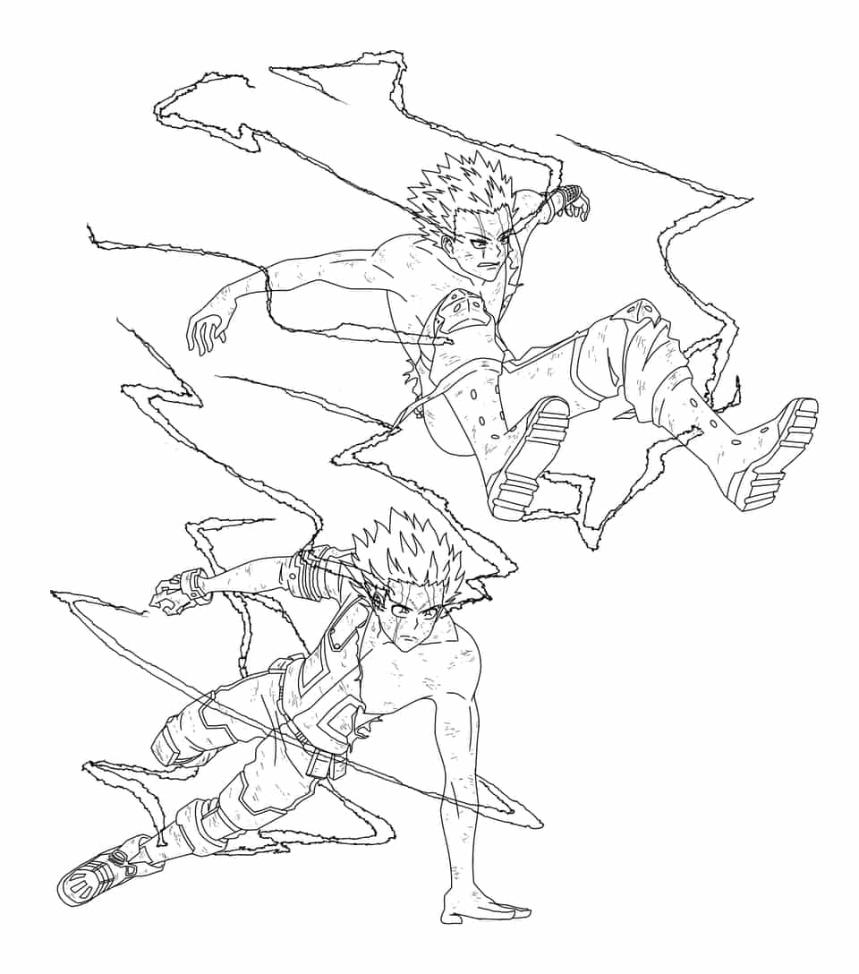 Duo One For All Illust of Hali Tomorrow Katsuki MyHeroAcademia _Bakugo Izuku_Midoriya