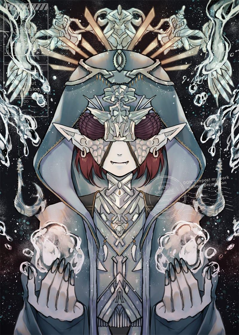 バテンカイトスの禁呪 Illust of しろ fantasy original 人外 villain oc water
