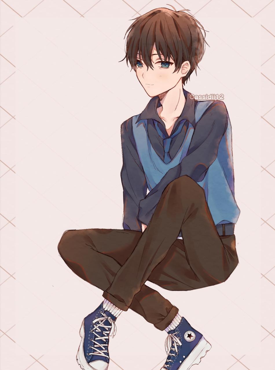 Oc Illust of Cassidii12 medibangpaint anime creation illustration boy character artstyle art animeboy digital original