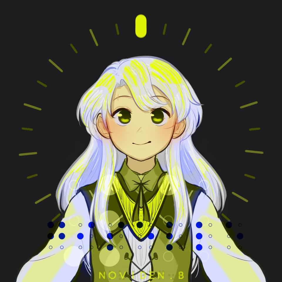 Giselle Illust of 00novi anime huevember2019 girl challenge oc character art huevember mage original