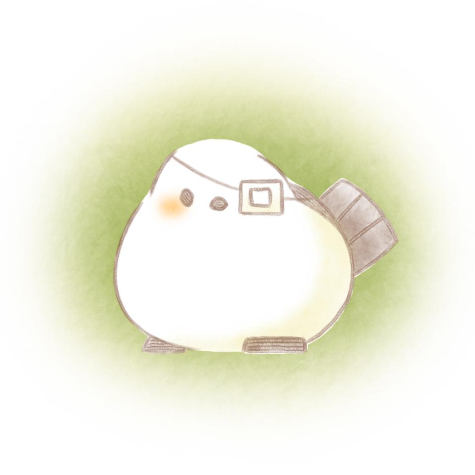 眼帯。 Illust of 兎卯子 小鳥 original とり シマエナガ digital 小動物