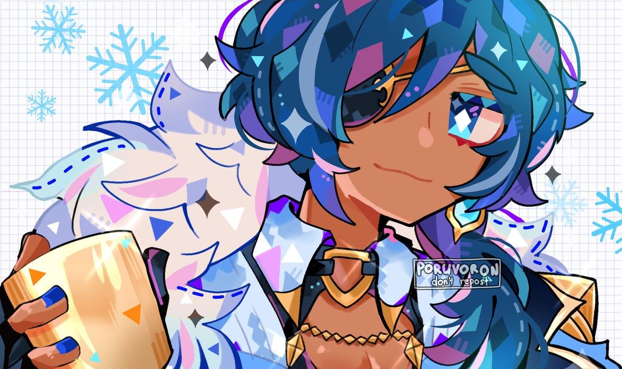 (Genshin Impact) Kaeya Illust of poruvoron medibang cute kaeya neon medibangpaint GenshinImpact