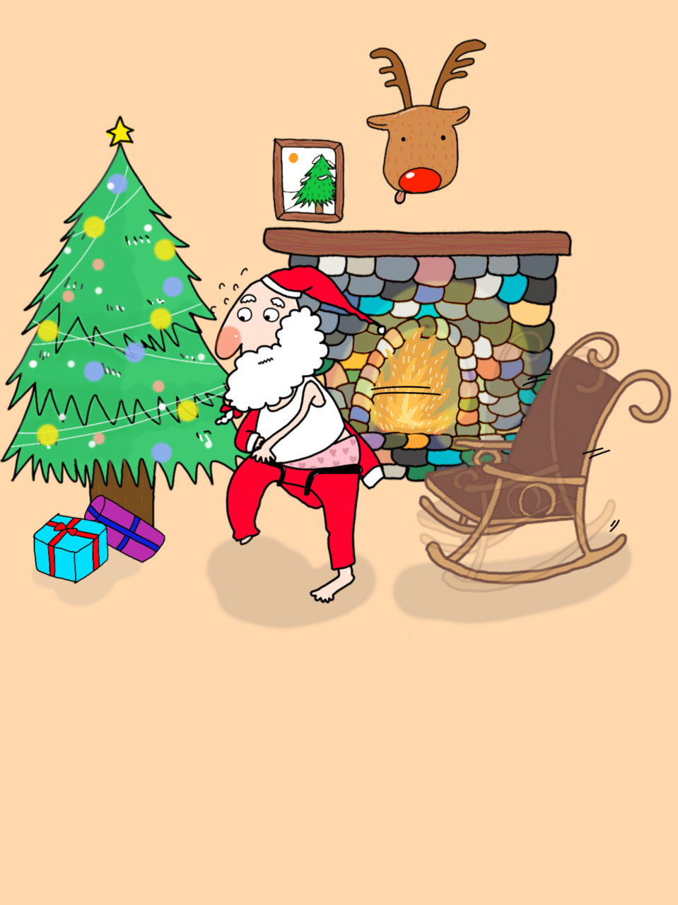 慌慌張張的聖誕老人 Illust of weishin December2020_Contest:Santa 聖誕老人 original 2020 Christmas