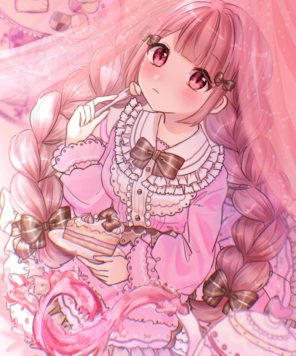 Tea Time Illust of 碧空こはく。 January2021_Contest:OC girl