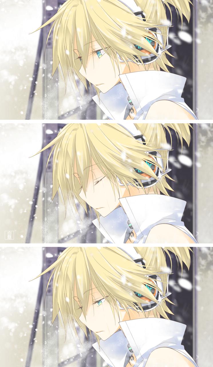 灰雪 Illust of 白継 KagamineLen VOCALOID tears illustration アペンド