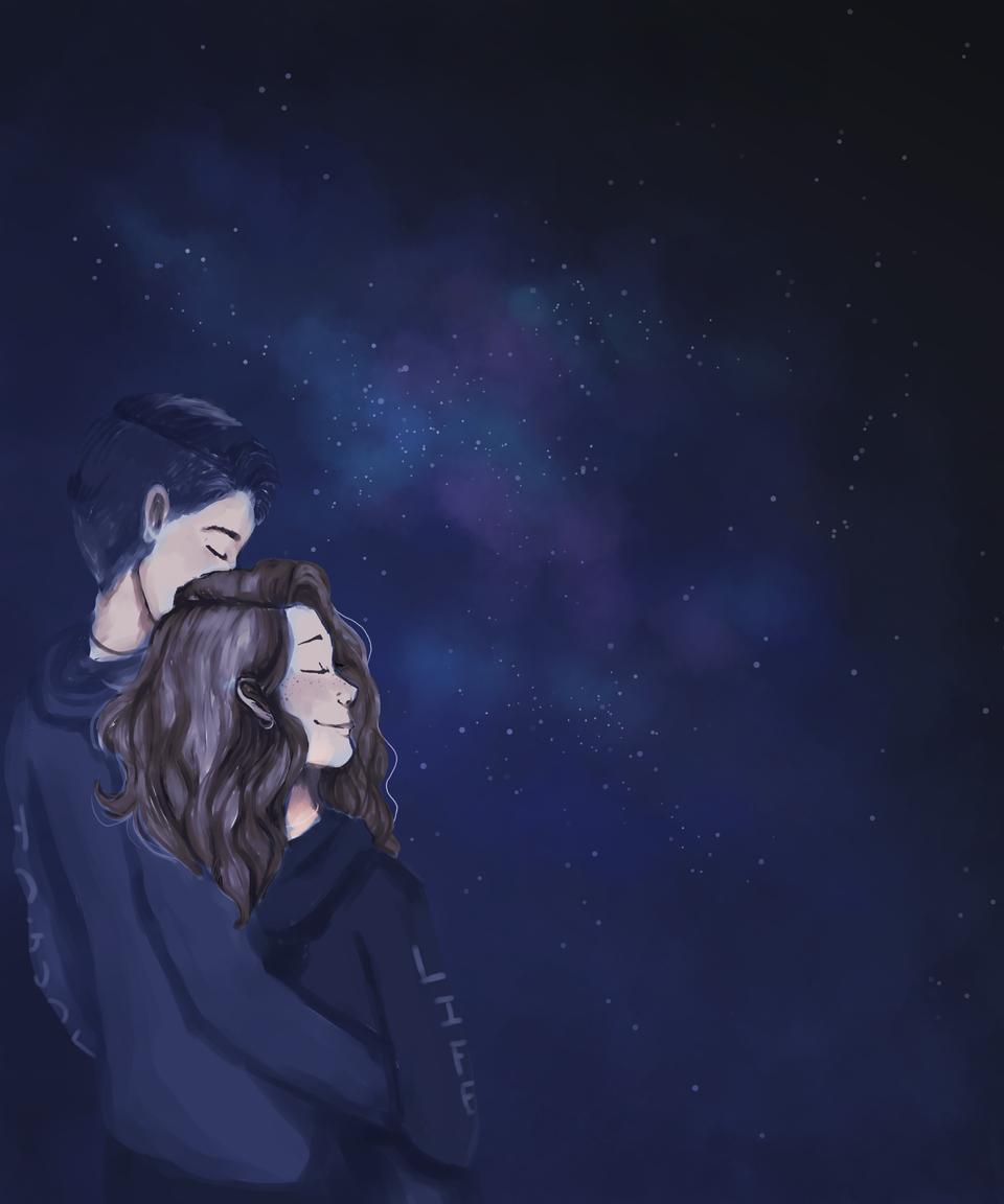 Sky made of stars Illust of Frostmoon medibangpaint