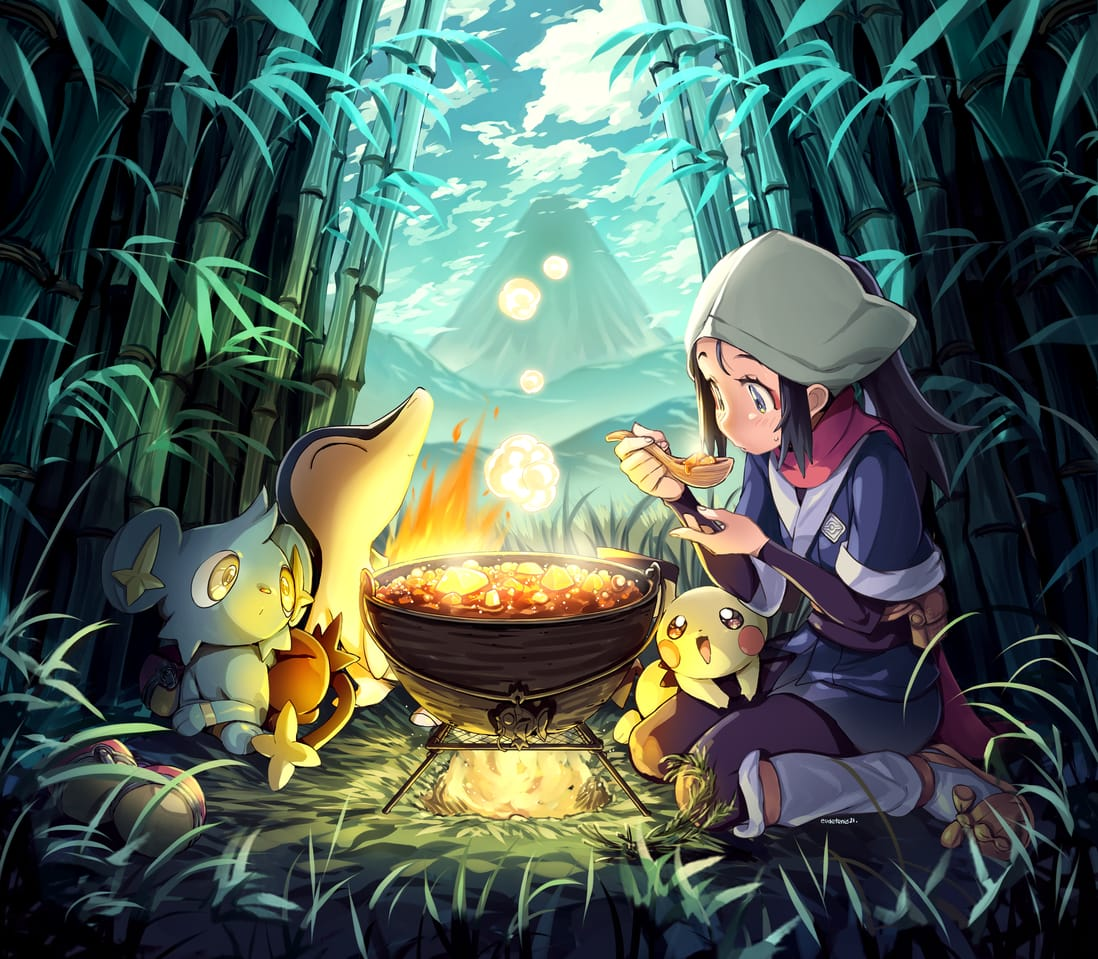ポケモンLEGENDSアルセウスキャラクター2 Illust of EUDETENIS February2021_Fantasy March2021_Creature EUDETENIS girl ポケモンLEGENDSアルセウス pokemon