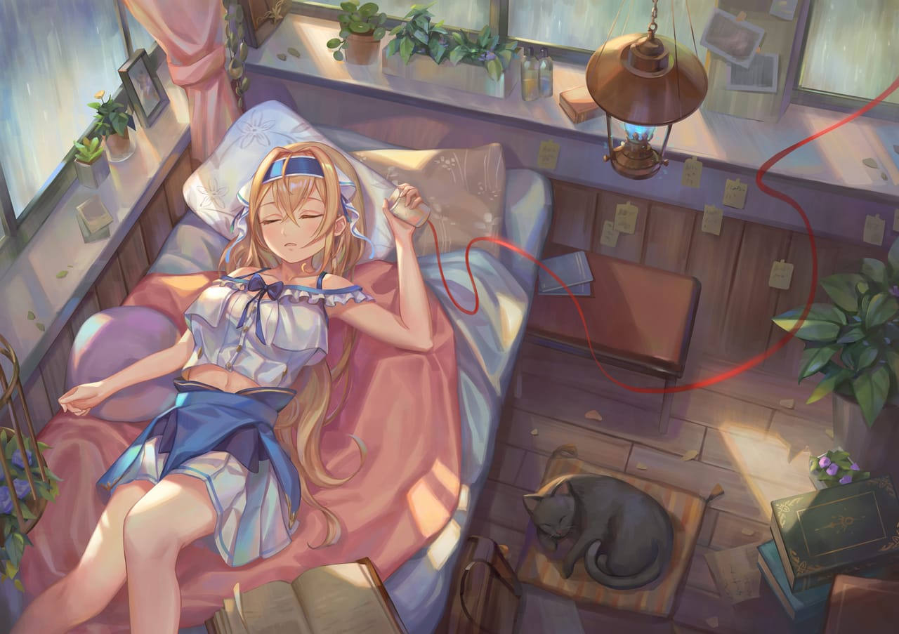 [Witches] 20180923 眠るまで君にささやく Illust of 紀尋 background girl original