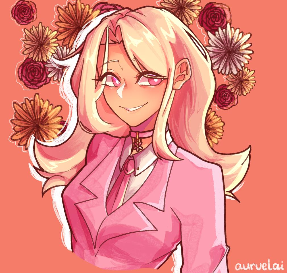 flower girl Illust of auruelai April2021_Flower medibangpaint