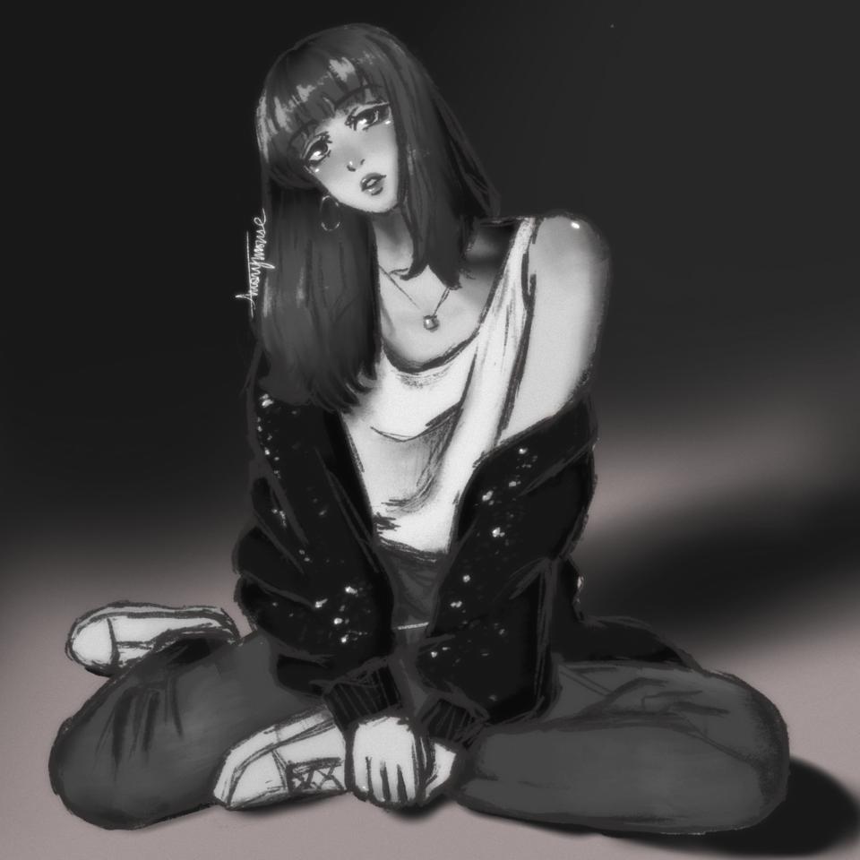 lisa :))) Illust of AnonymouseSaysHoooi K-pop sketch lis blackpink daily_doodlez gorl hair