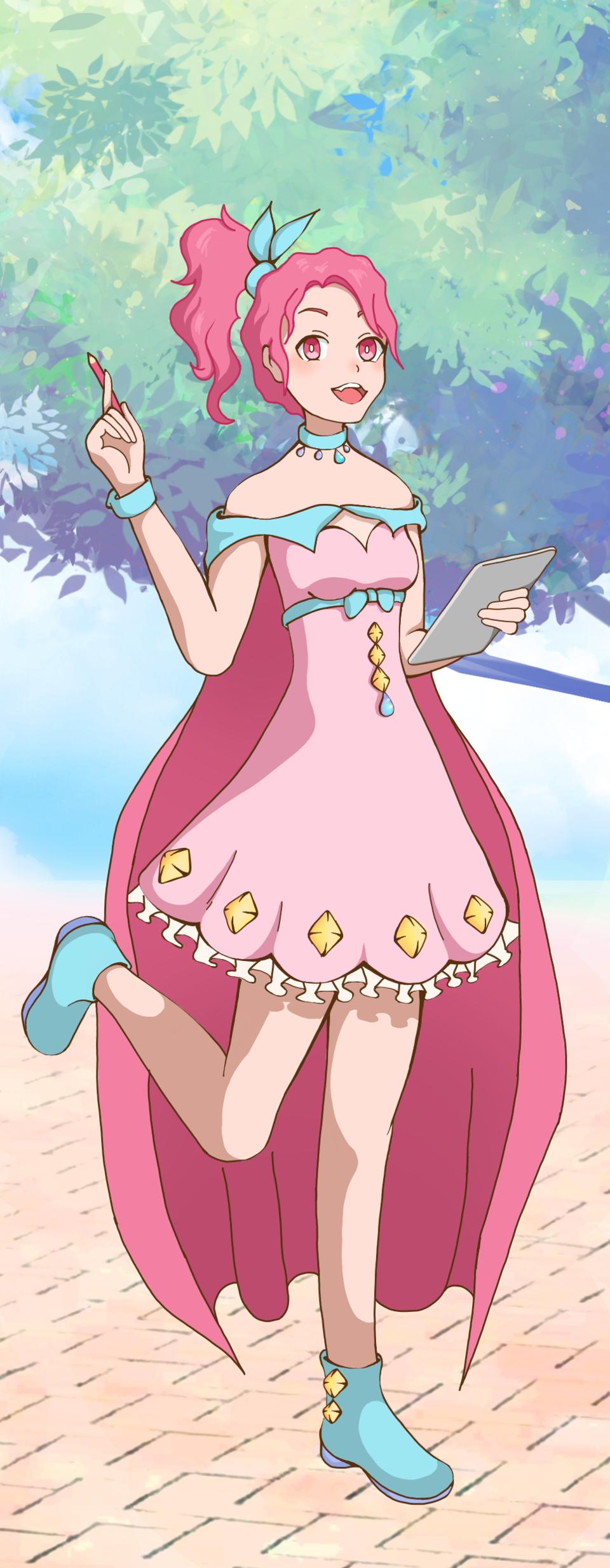 Pink Illust of Haruki PASTEL_SKETCH2020 jumppaint anime girl oc pink pastel