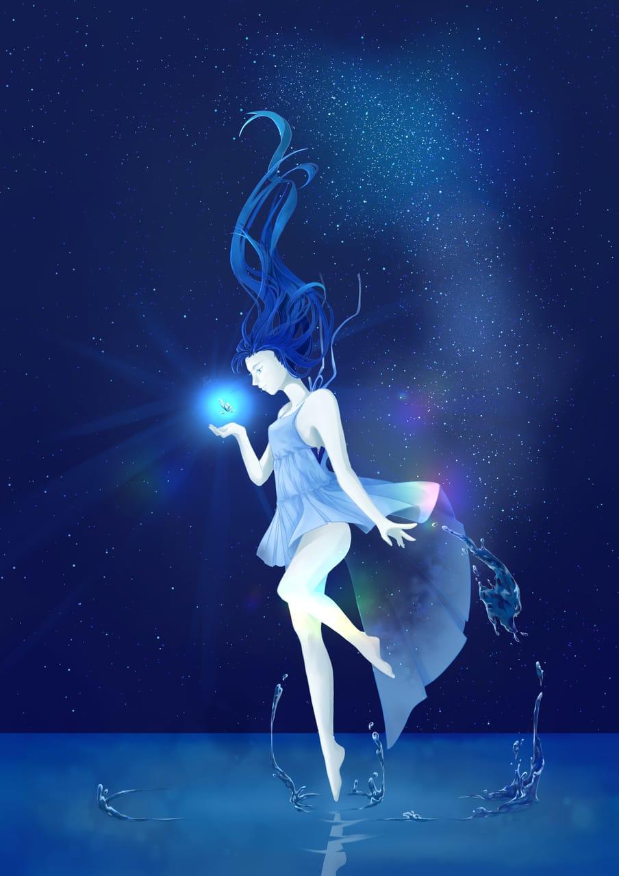 Charm Illust of Kozuki May2021_Monochrome woman girl 原創角色 original illustration illustrations