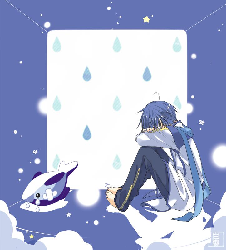 。。。× Illust of 白継 KAITO ぬいぐるみ 裸足 illustration VOCALOID シャチ