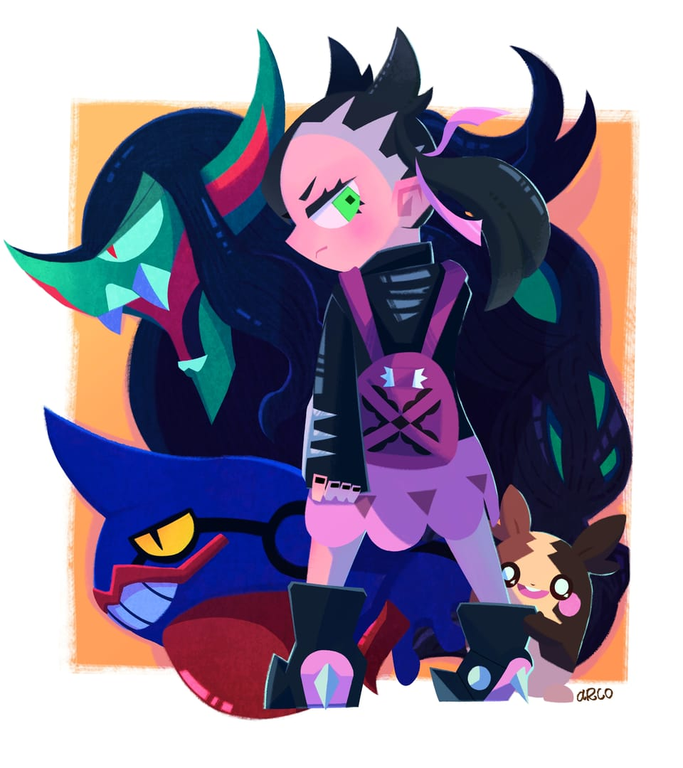 マリィ Illust of コ゚コ゚コ゚ PokémonSwordandShield pokemon マリィ(ポケモン)