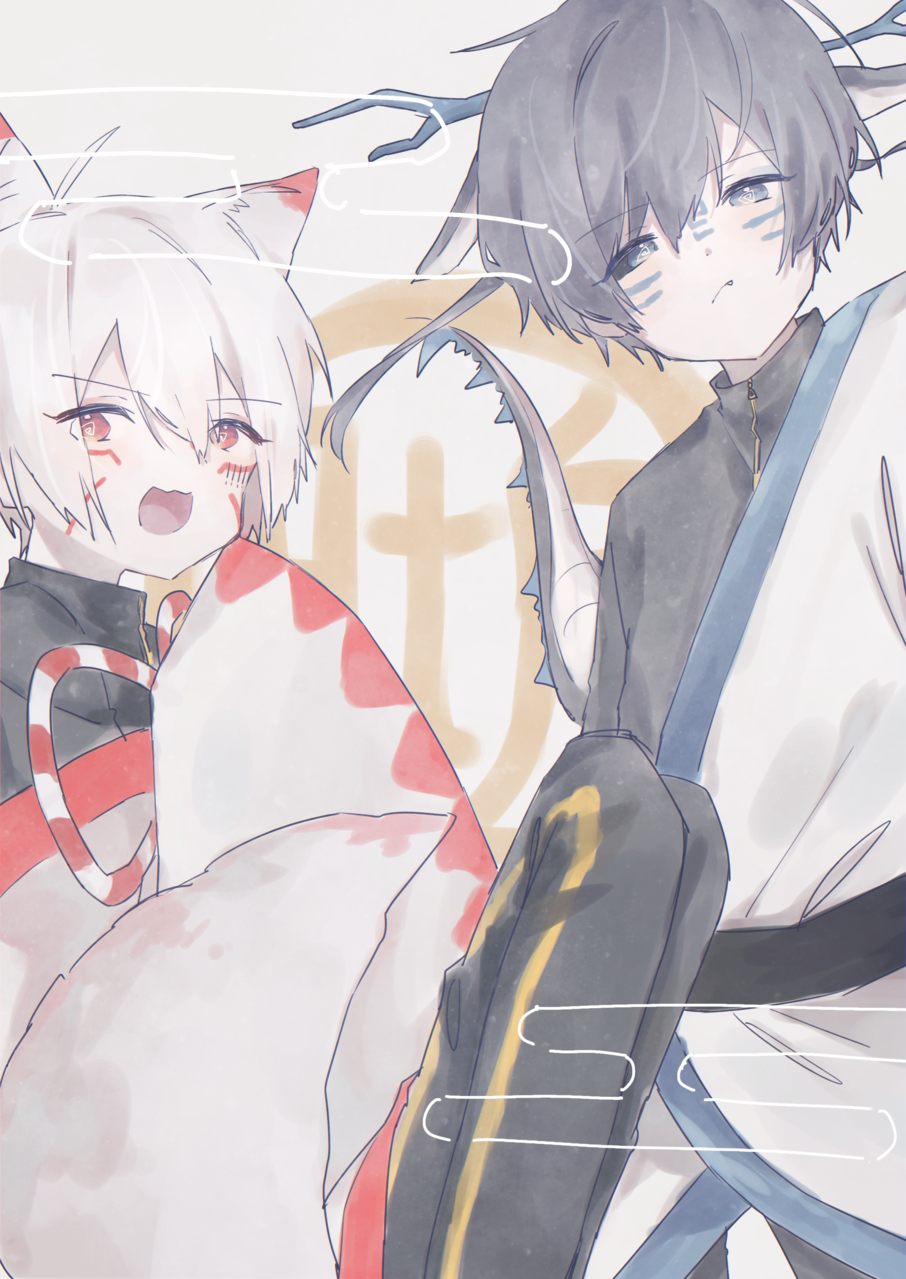 Illust of みぞれ white_hair animal_ears
