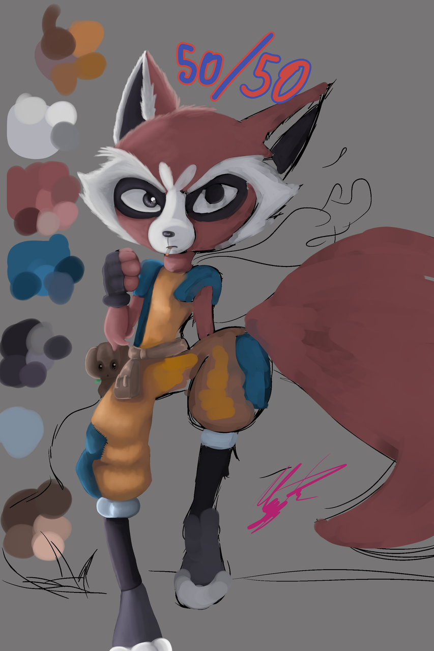 Illust of MiriamVe.Lo medibangpaint Marvel furry